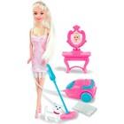 Игровой набор с куклой Ася «Уборка», вариант 1