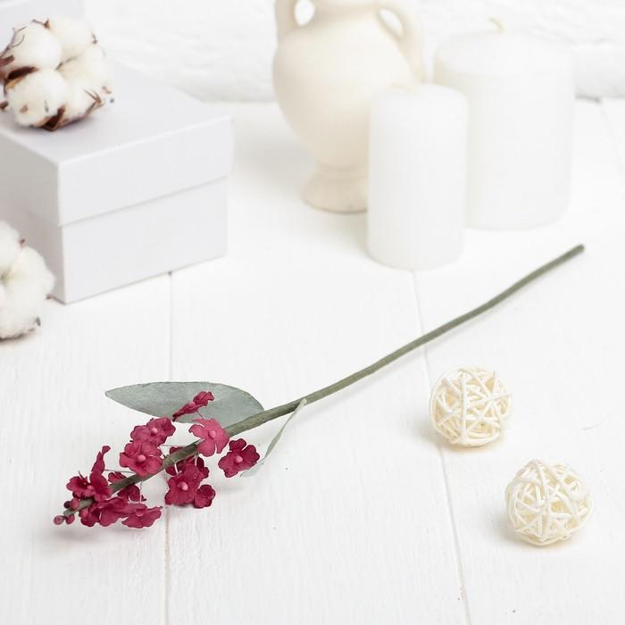 """Искусственный цветок """"Лаванда"""" красная 34 см"""