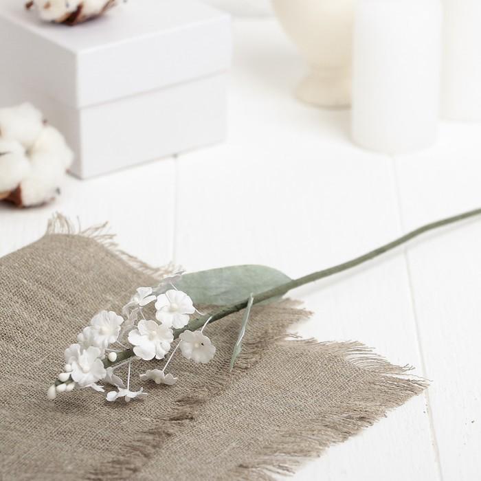 """Искусственный цветок """"Лаванда"""" белая 34 см"""