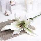 """Искусственный цветок """"Лилия"""" белая 48 см"""