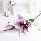 """Искусственный цветок """"Лилия"""" сиреневая 48 см"""