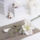"""Искусственный цветок """"Эустома"""" белая 48 см"""