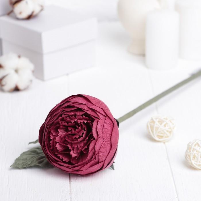 """Искусственный цветок """"Круглый пион"""" красный 40 см"""
