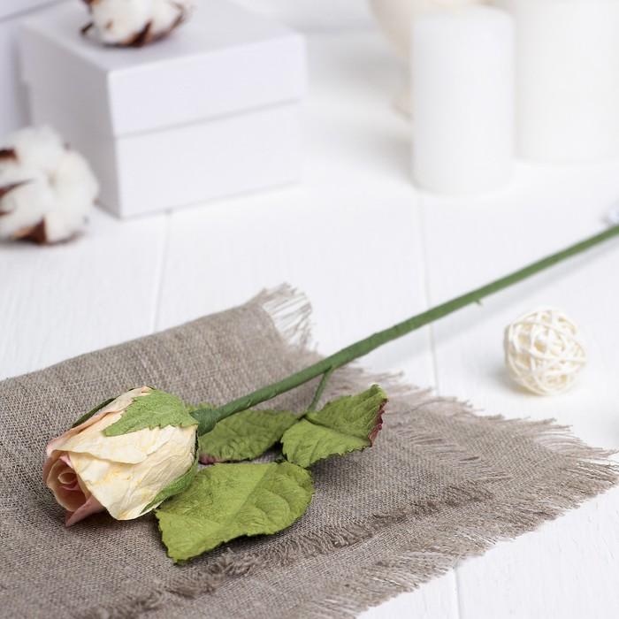 """Искусственный цветок """"Роза"""" нежно-розовая 40 см"""