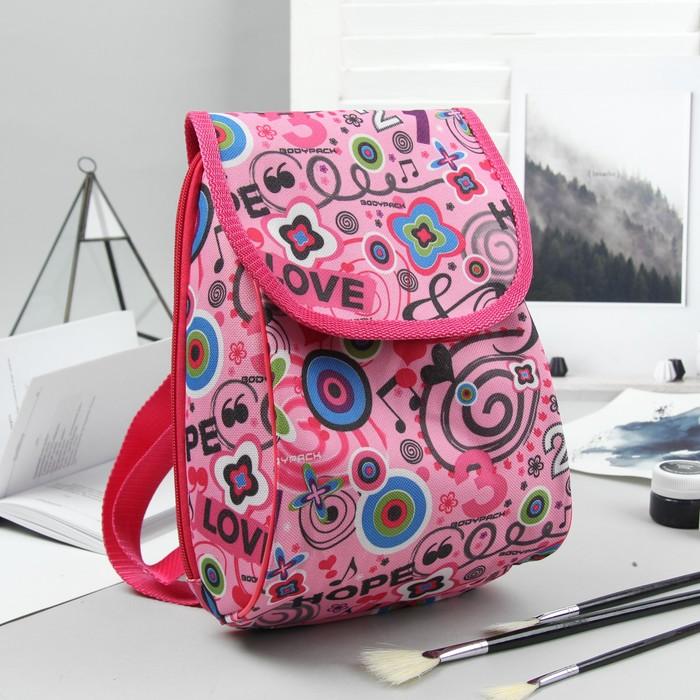 Рюкзак детский, отдел на клапане, цвет розовый