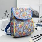 Рюкзак детский, отдел на клапане, цвет голубой/серый