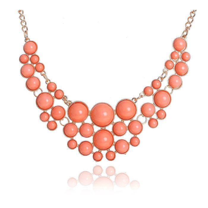 """Колье """"Ванилька"""", цвет персиковый"""