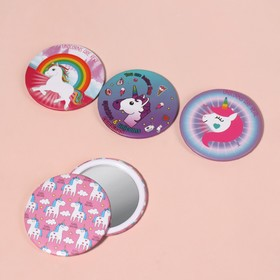 """Mirror compact """"Unicorn"""", single sided, no magnification, MIX color"""