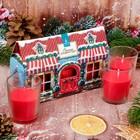 Набор новогодних свечей 3 шт, Рождественский домик