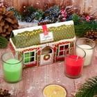 Набор новогодних свечей 3 шт, Красный домик