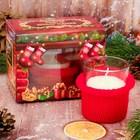 сувенирные новогодние свечи в стакане
