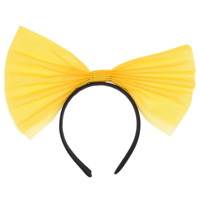 """Карнавальный ободок """"Бант"""", цвет жёлтый"""