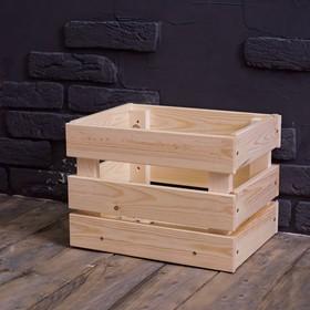 Ящик деревянный №1, стандартный, 35х26,5х25см