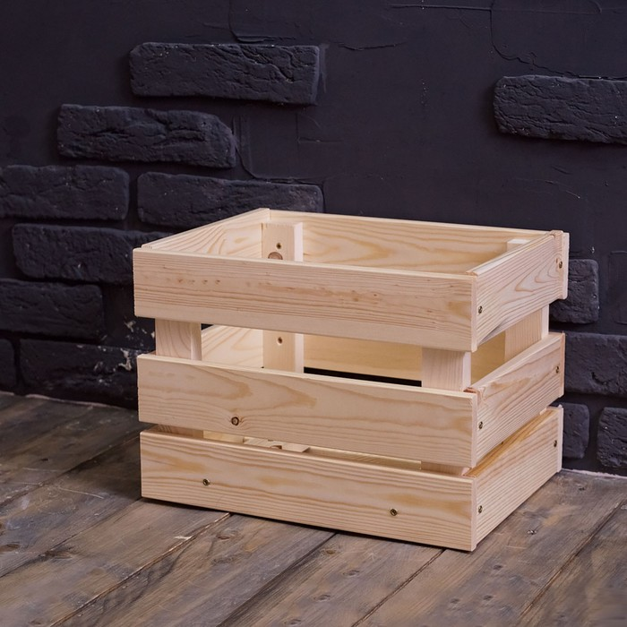 Ящик деревянный №1, стандартный, 35х26,5х27см