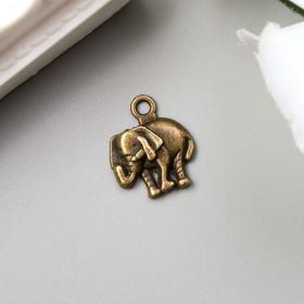 Декор для творчества металл 'Слон' бронза 1,3х1,2 см Ош