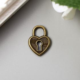 "Decor art metal ""Clasp-heart"" bronze 1,8x1,3 cm"