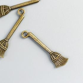 "Decor art metal ""Broom"" bronze 3x1 cm"