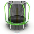 Батут с внутренней сеткой и лестницей EVO JUMP Cosmo Internal, диаметр 6ft (183 см), цвет зелёный
