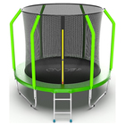 Батут с внутренней сеткой и лестницей EVO JUMP Cosmo Internal, диаметр 8ft (244 см), цвет зелёный