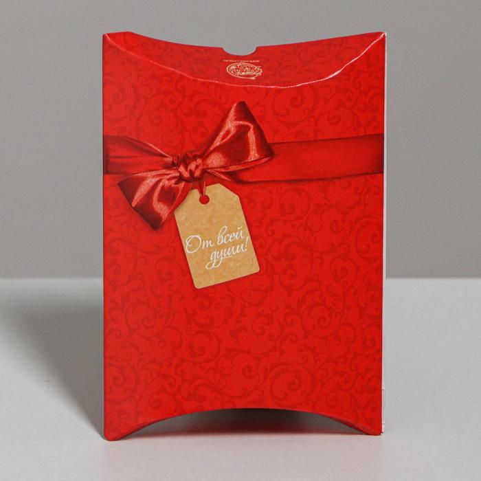 Коробка сборная фигурная «От всей души!», 11 × 8 × 2 см