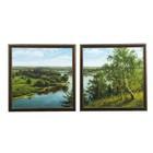 """Модульная картина """"Широкая река"""" (36х36-2 шт) 36х72 см"""