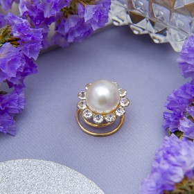 Hairpin spring d-1.5 cm Flower with pearl
