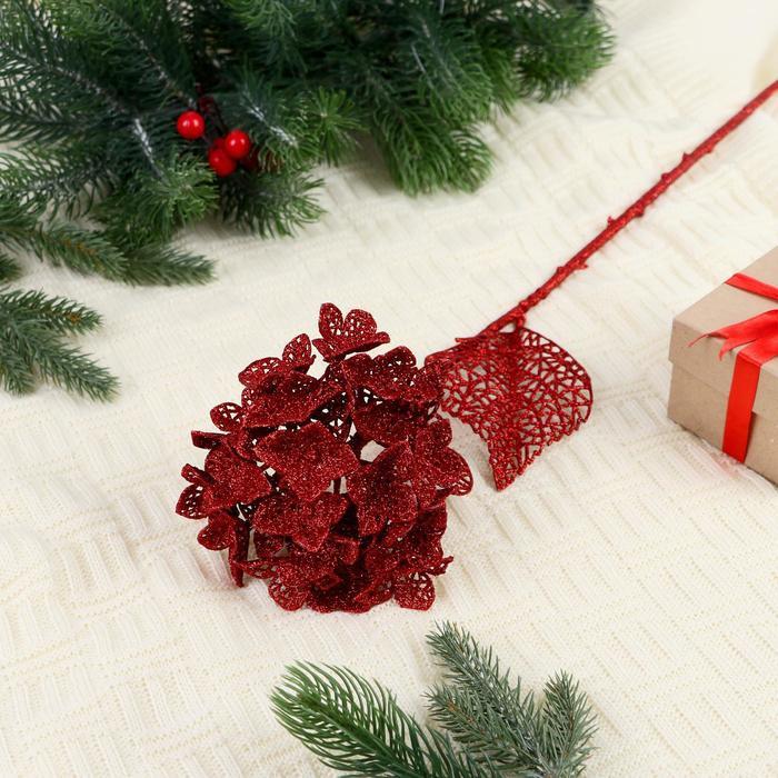 """Декор """"Сияние"""" цветок шар, 15*64 см, красный"""