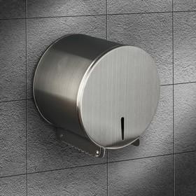 Диспенсер туалетной бумаги 16х15х12 см, втулка 3 см, нержавеющая сталь