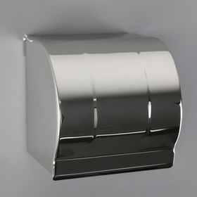 The toilet paper holder without bushing 12×12.5×12 cm, color chrome mirror