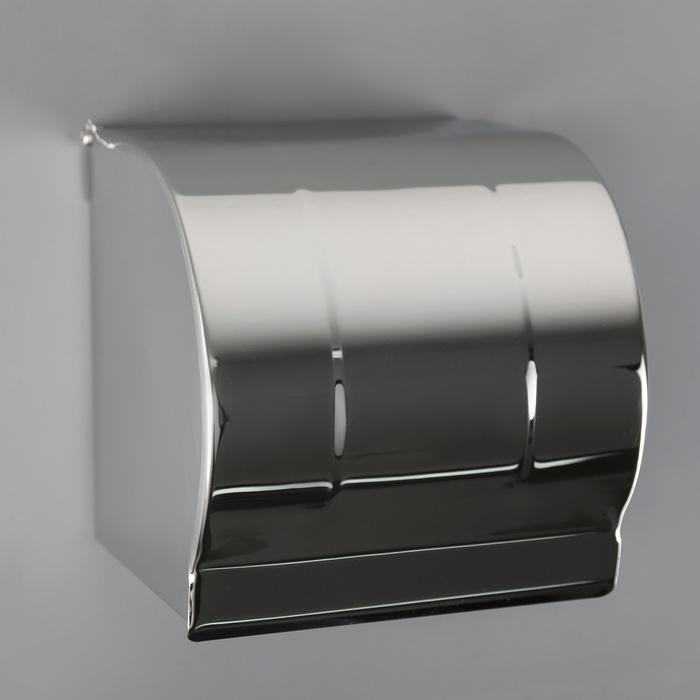 Держатель для туалетной бумаги, без втулки 12×12.5×12 см, цвет хром зеркальный