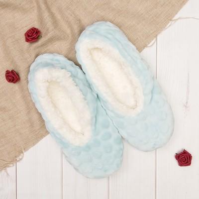"""Носки-тапочки """"Плюшевые"""", цвет голубой"""