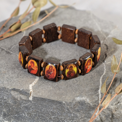 "Bracelet ""Orthodox"" wood, MIX color"