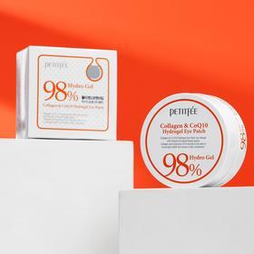 Гидрогелевые патчи под глаза с коэнзимом Q10 и 98% содержанием коллагена Petitfee, 60 шт