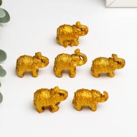 """Нэцке полистоун """"Золотые слоны"""" набор 6 шт 3х3,5х1,7 см в Донецке"""