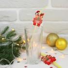 """Трубочки для коктейля """"С Новым Годом""""свинка (набор 6 шт)"""