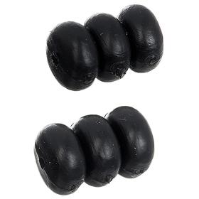Комплект из 3 резиновых шайб STG YZ-KOR1-1.2  для защиты рамы от тросов. прозрачные  1,2 мм. Ош