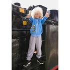 """Спортивный костюм для мальчика MINAKU """"Космос"""", рост 110-116 см, цвет серый/голубой"""