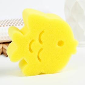 Игрушка для купания детская: губка - мочалка «Рыбка»