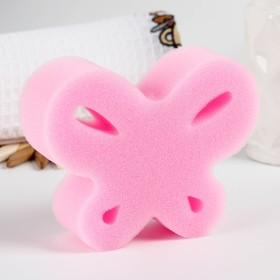 Игрушка для купания детская: губка - мочалка «Бабочка»