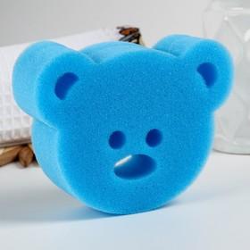 Игрушка для купания детская: губка - мочалка «Мишутка»