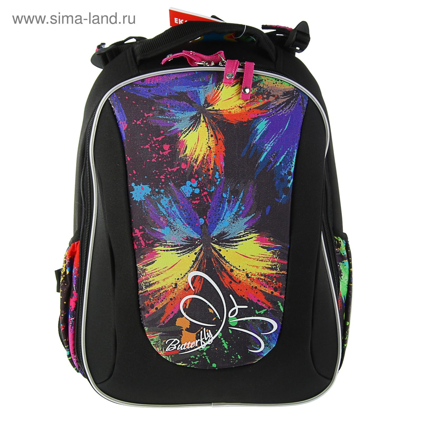 f885d2ac898d Рюкзак каркасный школьный эргономичная спинка Erich Krause Multi Pack  40*32*18, Neon