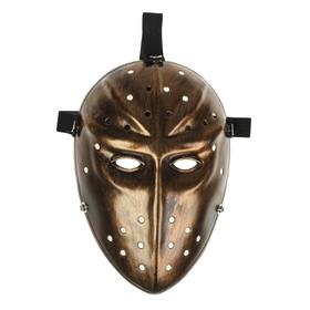 Карнавальная маска «Воин», цвет золотой