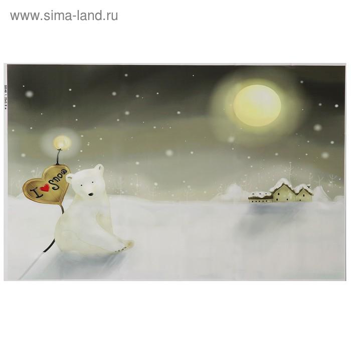 "Фотофон винил ""Белый мишка"" 80х125 см"