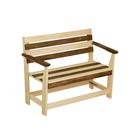 """Скамейка с подлокотником """"Зебра"""", нераскладная, наличник, 100х55х90см"""