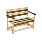"""Скамейка с подлокотником """"Зебра"""", нераскладная, наличник, 120х55х90см"""