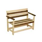 """Скамейка с подлокотником """"Зебра"""", нераскладная, наличник, 140х55х90см"""