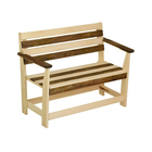 """Скамейка с подлокотником """"Зебра"""", нераскладная, наличник, 160х55х90см"""