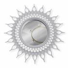 Зеркало настенное «Солнце», d зеркальной поверхности 10,5 см, цвет белый