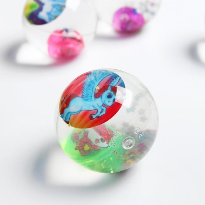 Мяч световой «Единорог», с водой, 6,5 см, виды МИКС