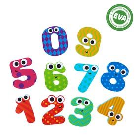 Набор игрушек для ванны «Цифры»: фигурки-стикеры из EVA, 10 шт.
